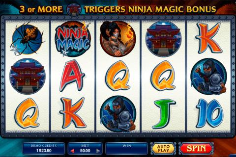 ninja magic microgaming pokie