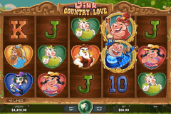 oink country love microgaming pokie