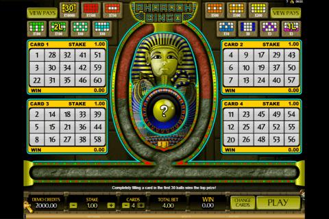 pharaoh bingo microgaming