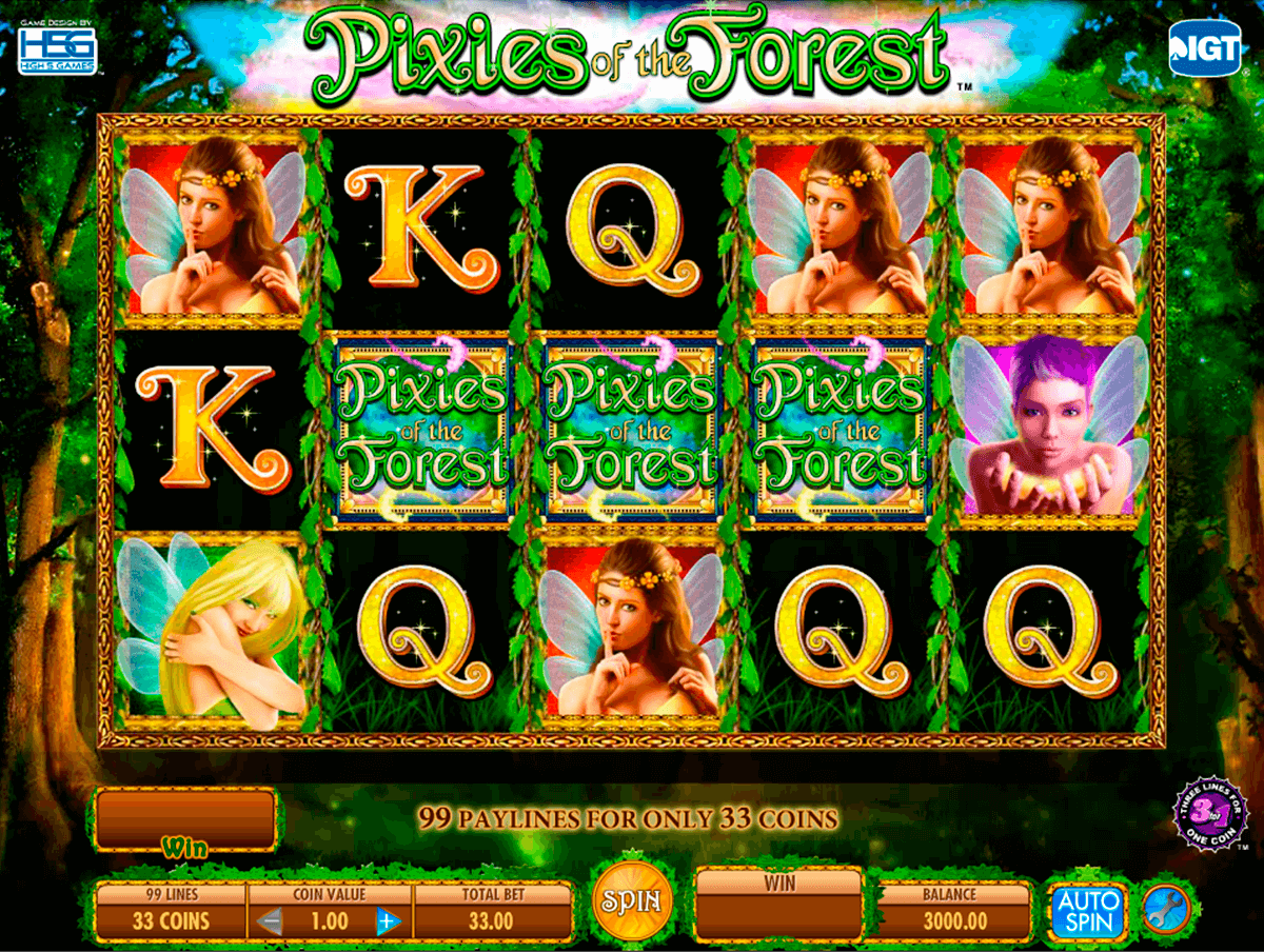 pixies of the forest igt pokie