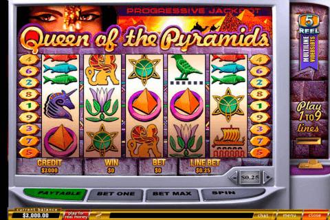 queen of pyramids playtech pokie