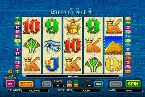queen of the nile ii aristocrat pokie