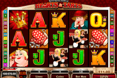 rhyming reels hearts and tarts microgaming pokie