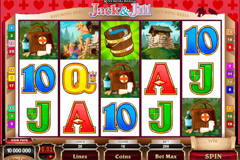 rhyming reels jack and jill microgaming pokie