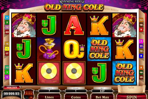 rhyming reels old king cole microgaming pokie