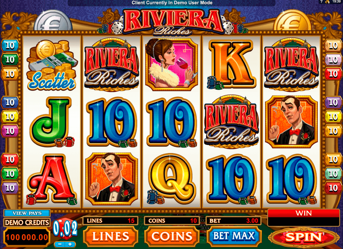 riviera riches microgaming pokie
