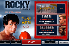 rocky scratch playtech