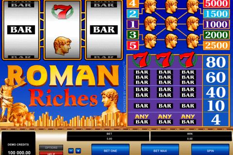 roman riches microgaming pokie