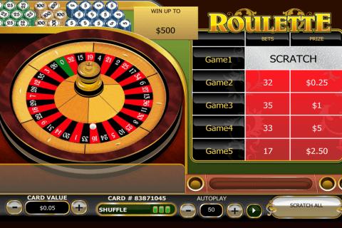 roulette scratch playtech