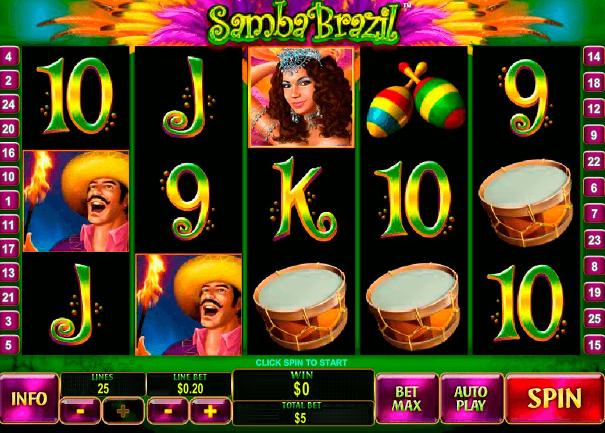 samba brazil playtech pokie