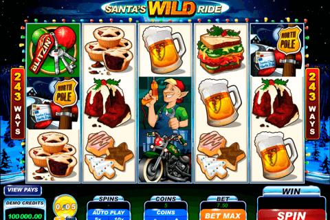 santas wild ride microgaming pokie