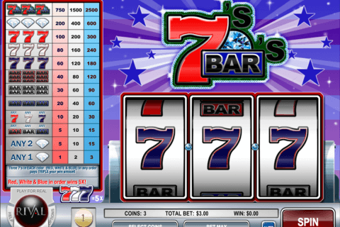 sevens and bars rival pokie