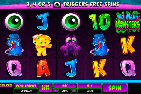 so many monsters microgaming pokie