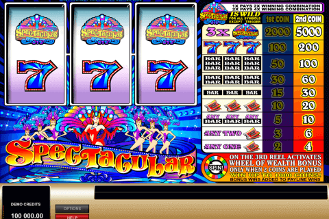 spectacular microgaming pokie