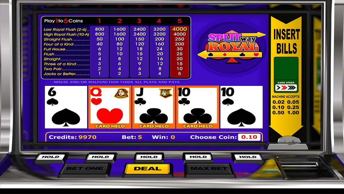 split way royal betsoft video poker