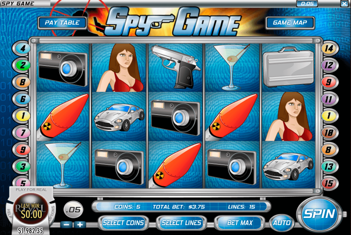 Play the Spy Game Slots from Rival with No Download