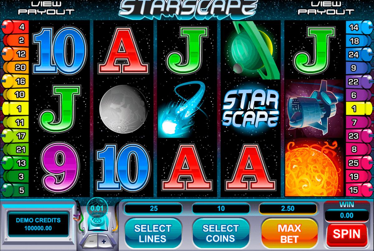 starscape microgaming pokie