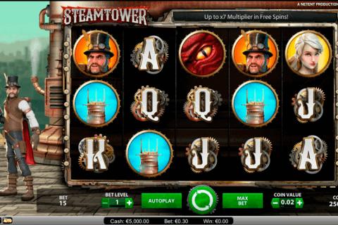 steam tower netent pokie