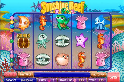 sunshine reef microgaming pokie
