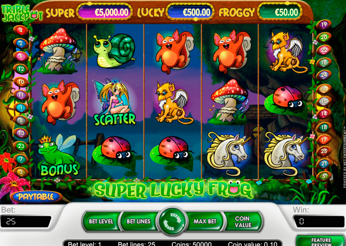 super lucky frog netent pokie