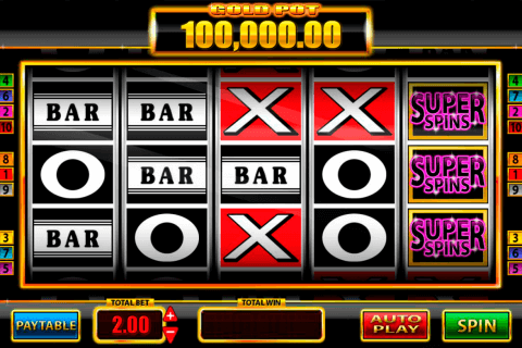 super spins bar  gold blueprint pokie