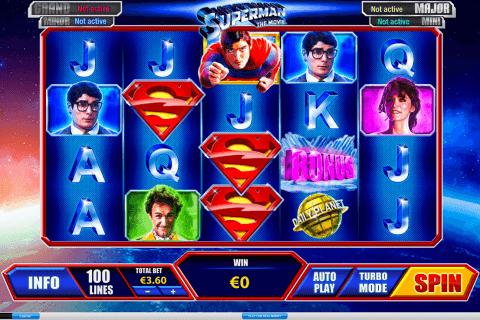 superman playtech pokie