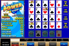 tens or better  play power poker microgaming video poker