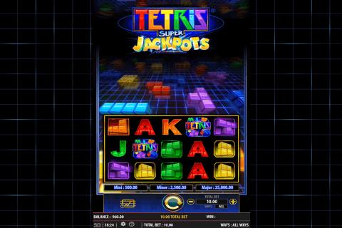 tetris super jackpots wms pokie
