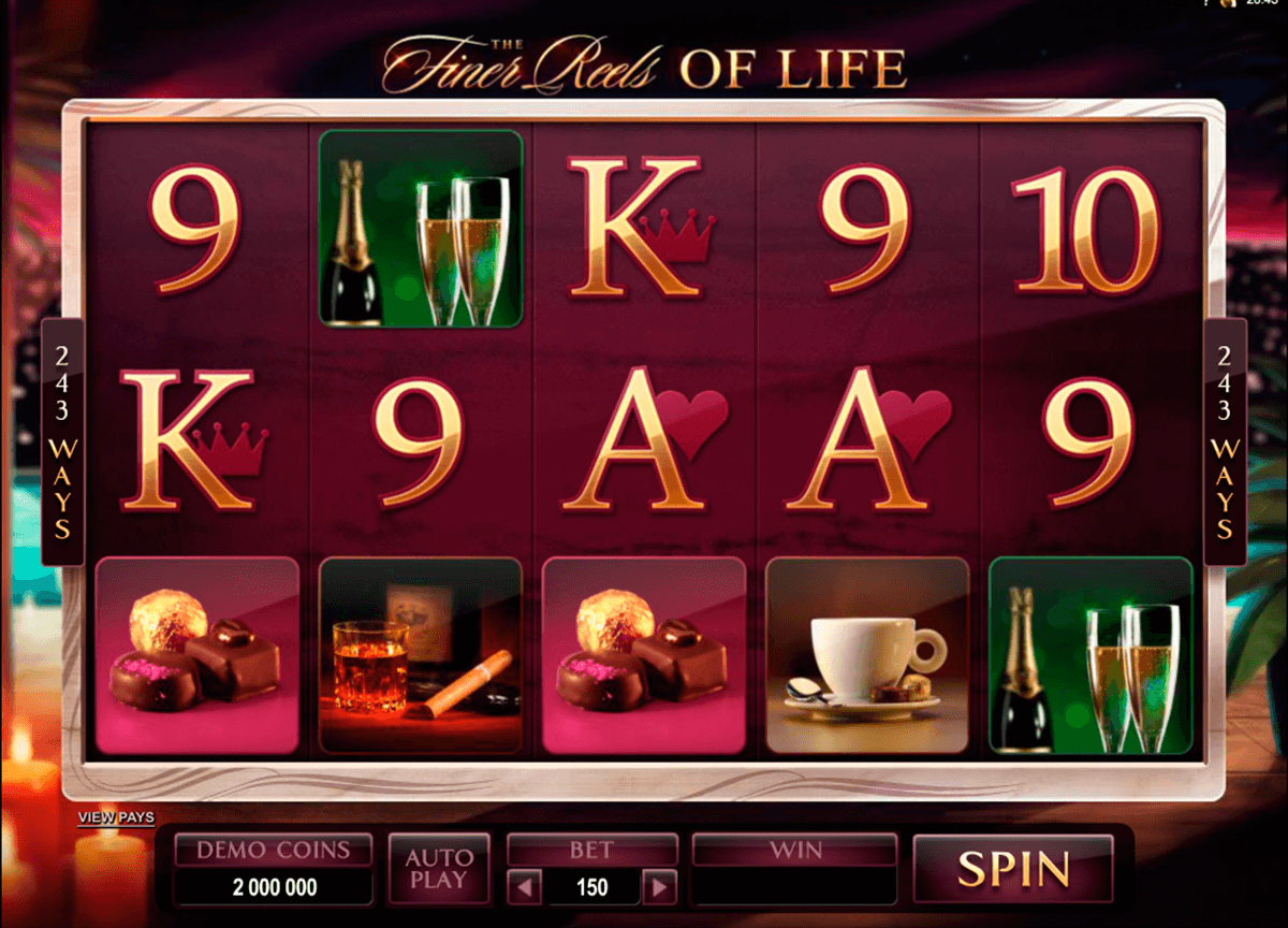 the finer reels of life microgaming pokie