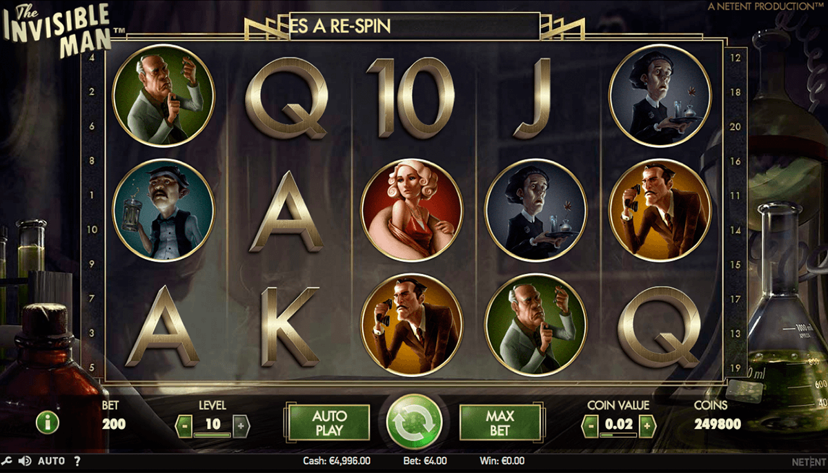 the invisible man netent pokie