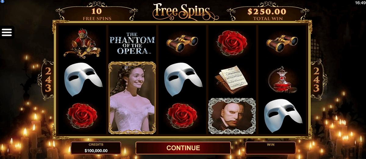 Phantom of the opera slot machine