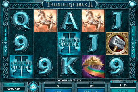 thunderstruck ii microgaming pokie