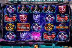 transformers battle for cybertron igt pokie
