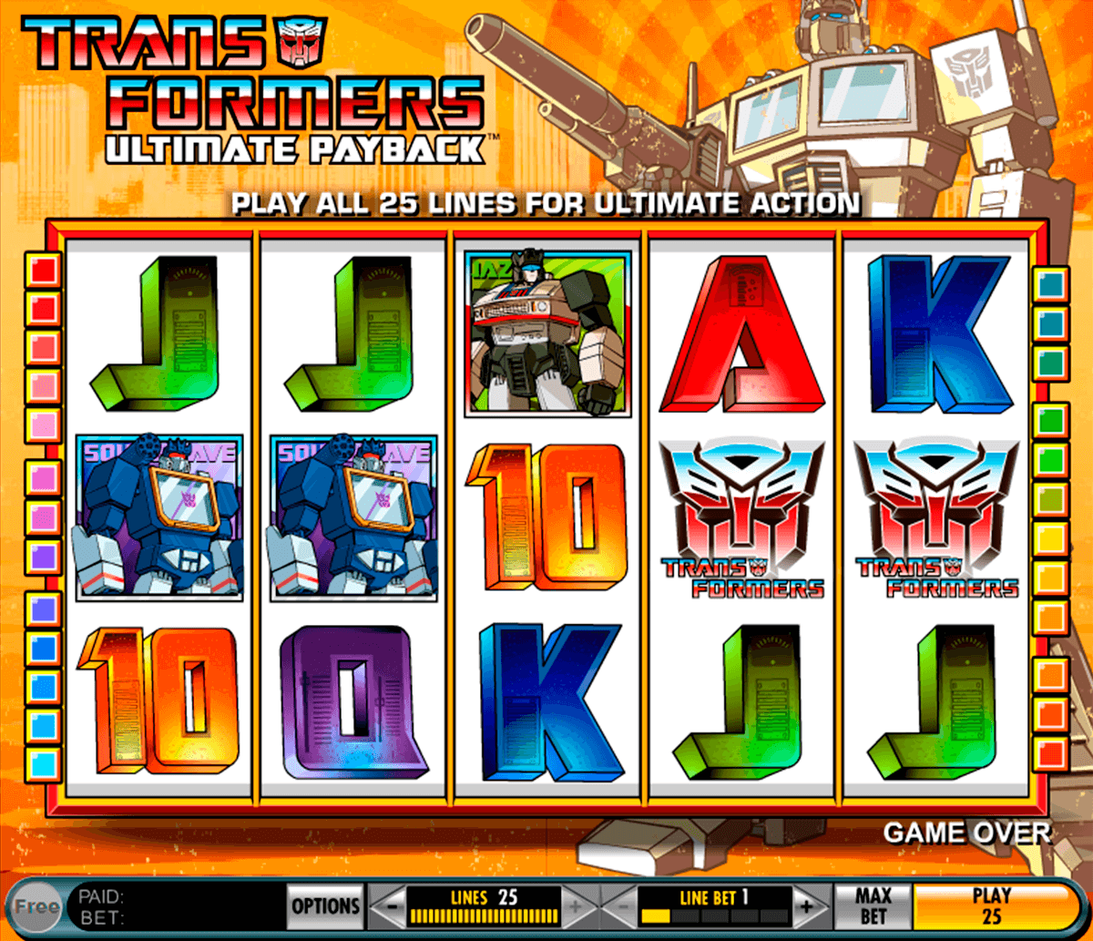 Transformers Ultimate Payback Slot Machine Play Free Igt