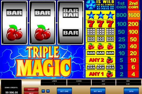 triple magic microgaming pokie