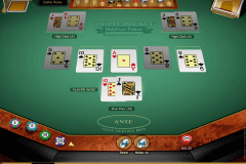 triple pocket holdem poker microgaming video poker