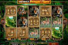 untamed bengal tiger microgaming pokie