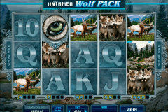 untamed wolf pack microgaming pokie