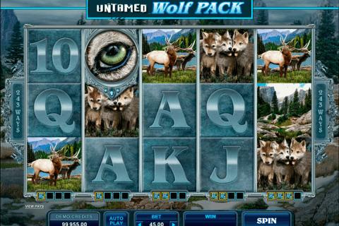 untamed wolf pack microgaming pokie
