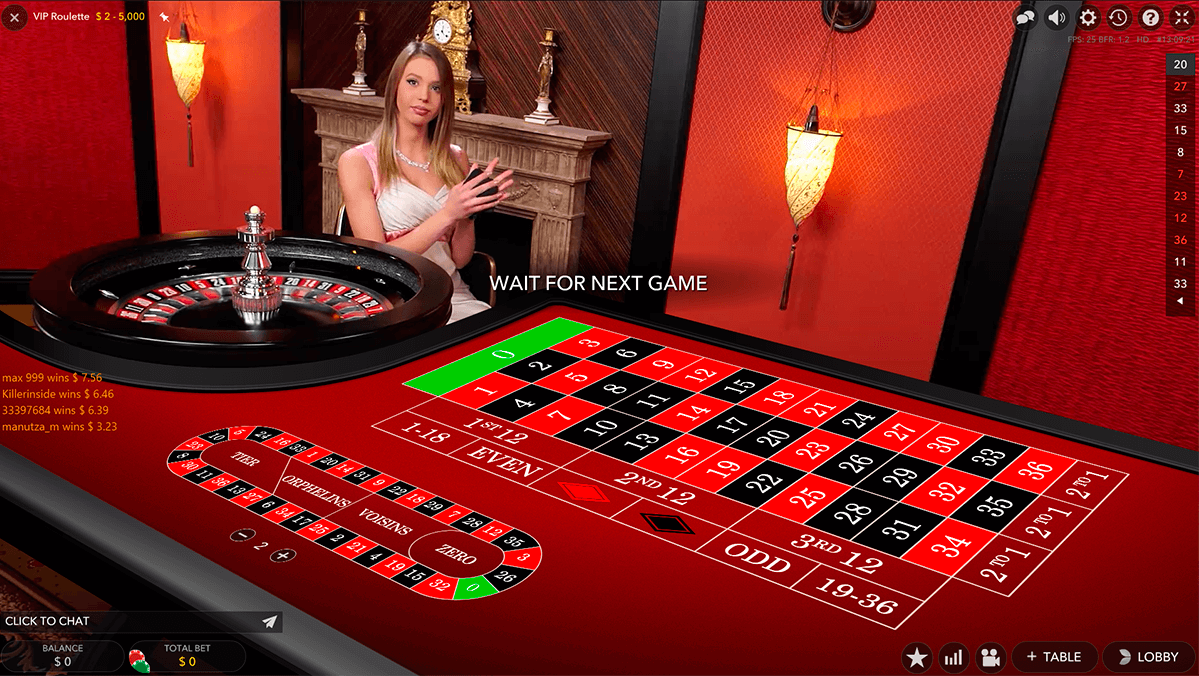 Vip Live Roulette By Evolution Gaming Free Play Online