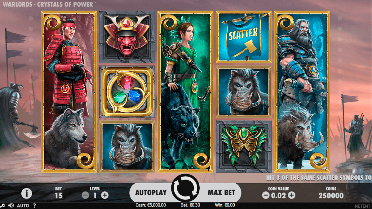 warlords crystals of power netent pokie