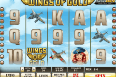 wings of gold playtech pokie
