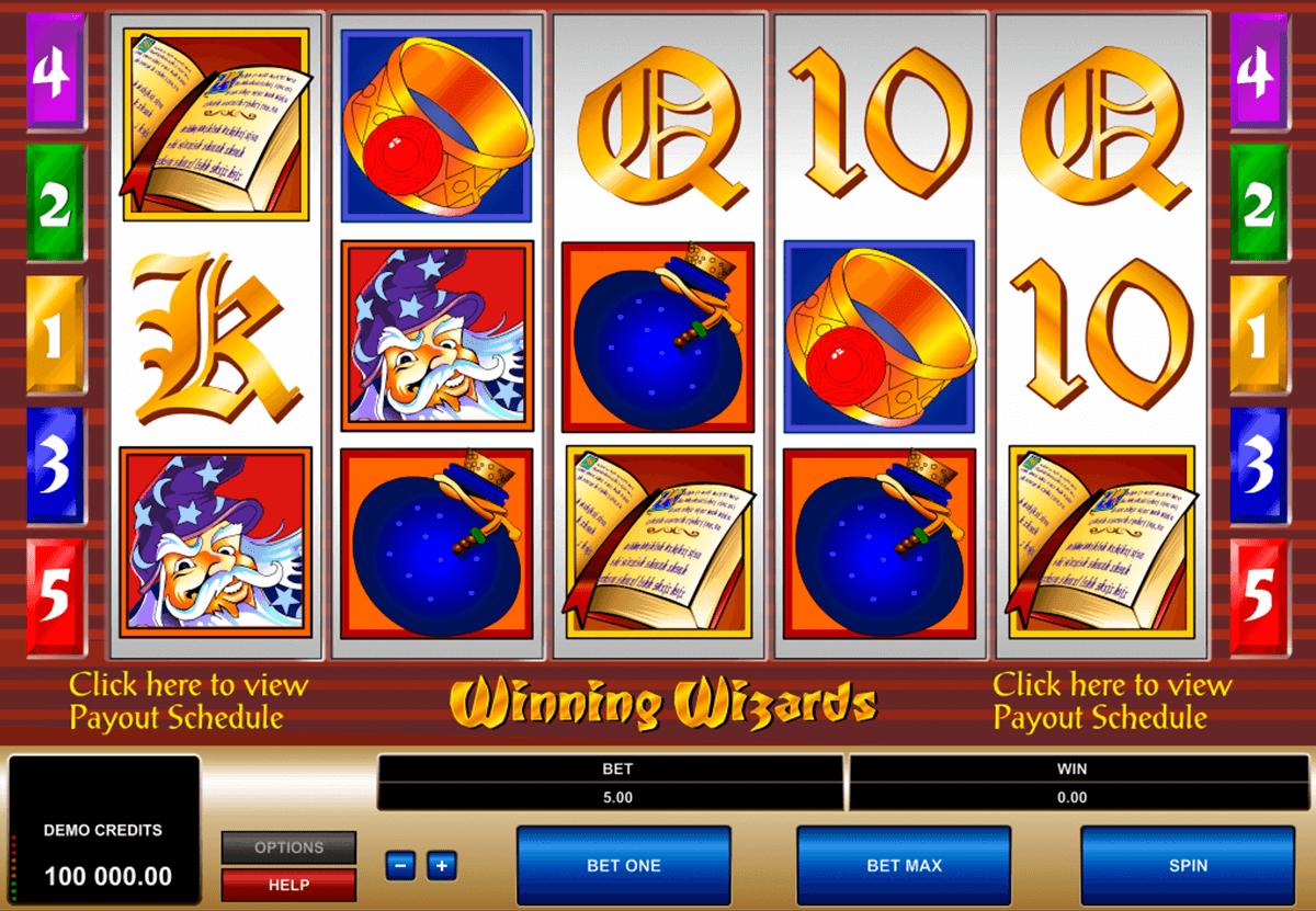 winning wizards microgaming pokie