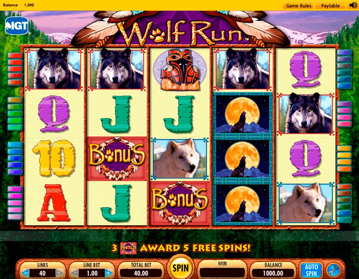 casino slot machine wolf run