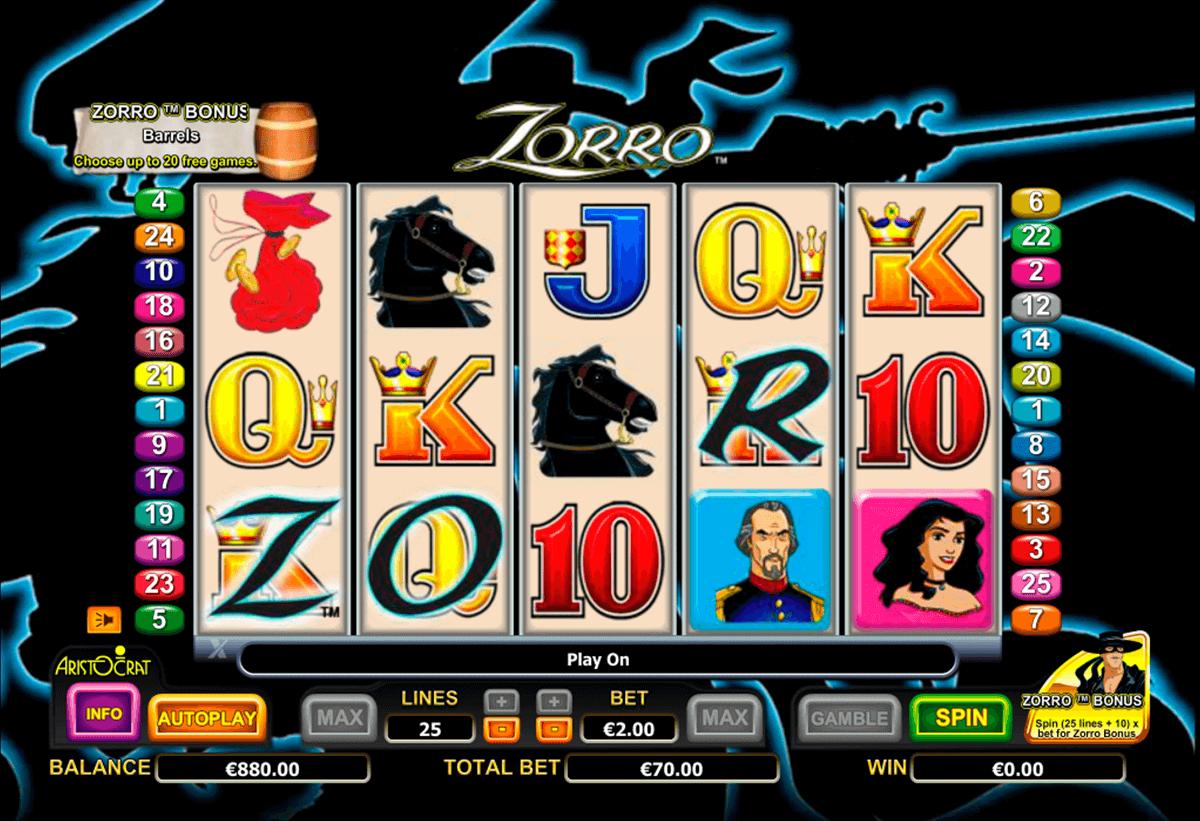 Slot Machine Zorro Free